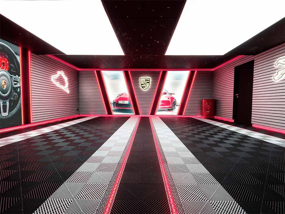 Aménagement garage Porsche
