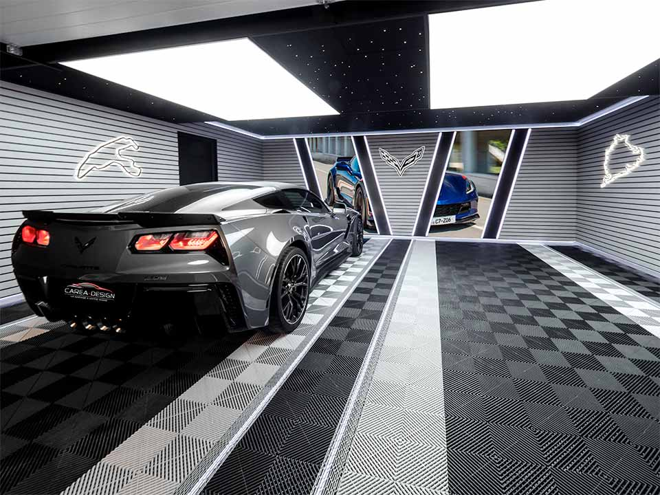 aménagement garage corvette carea-design