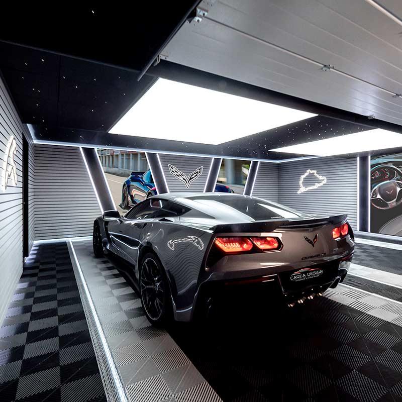 création garage corvette