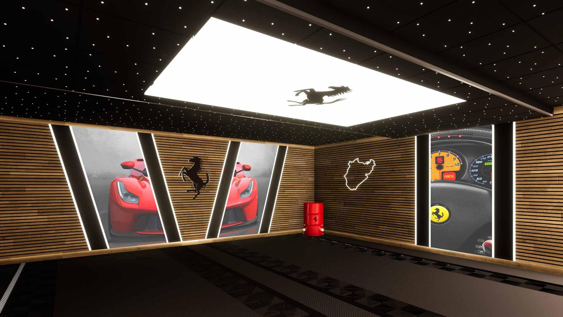 création garage Ferrari 3D