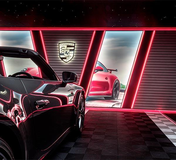 éclairage leds rvb garage haut de gamme