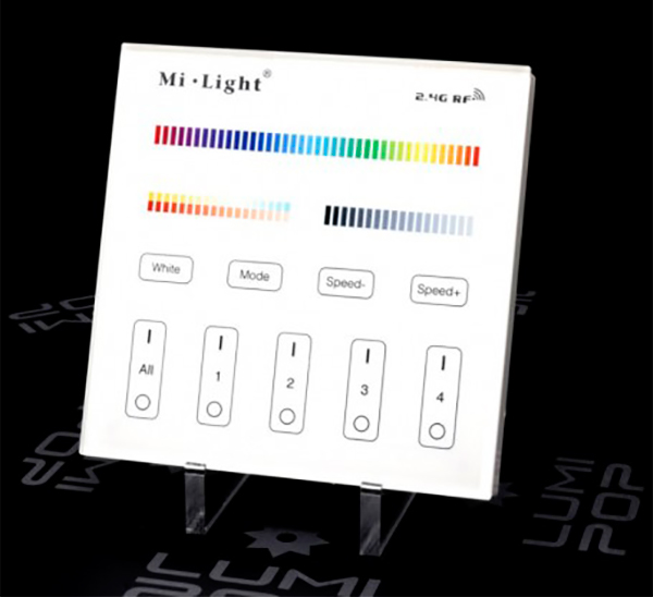 écran de contrôle lumières garage haut de gamme