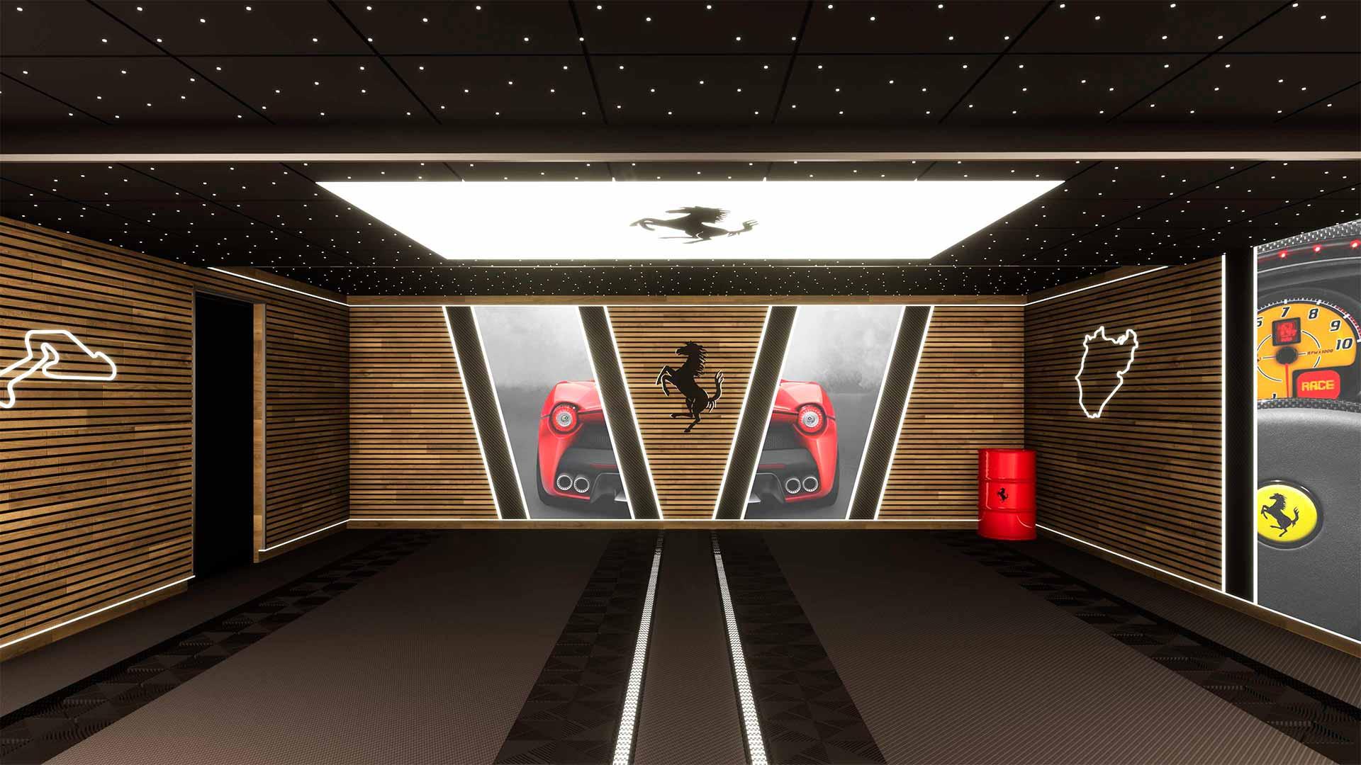 garage Ferrari 3D
