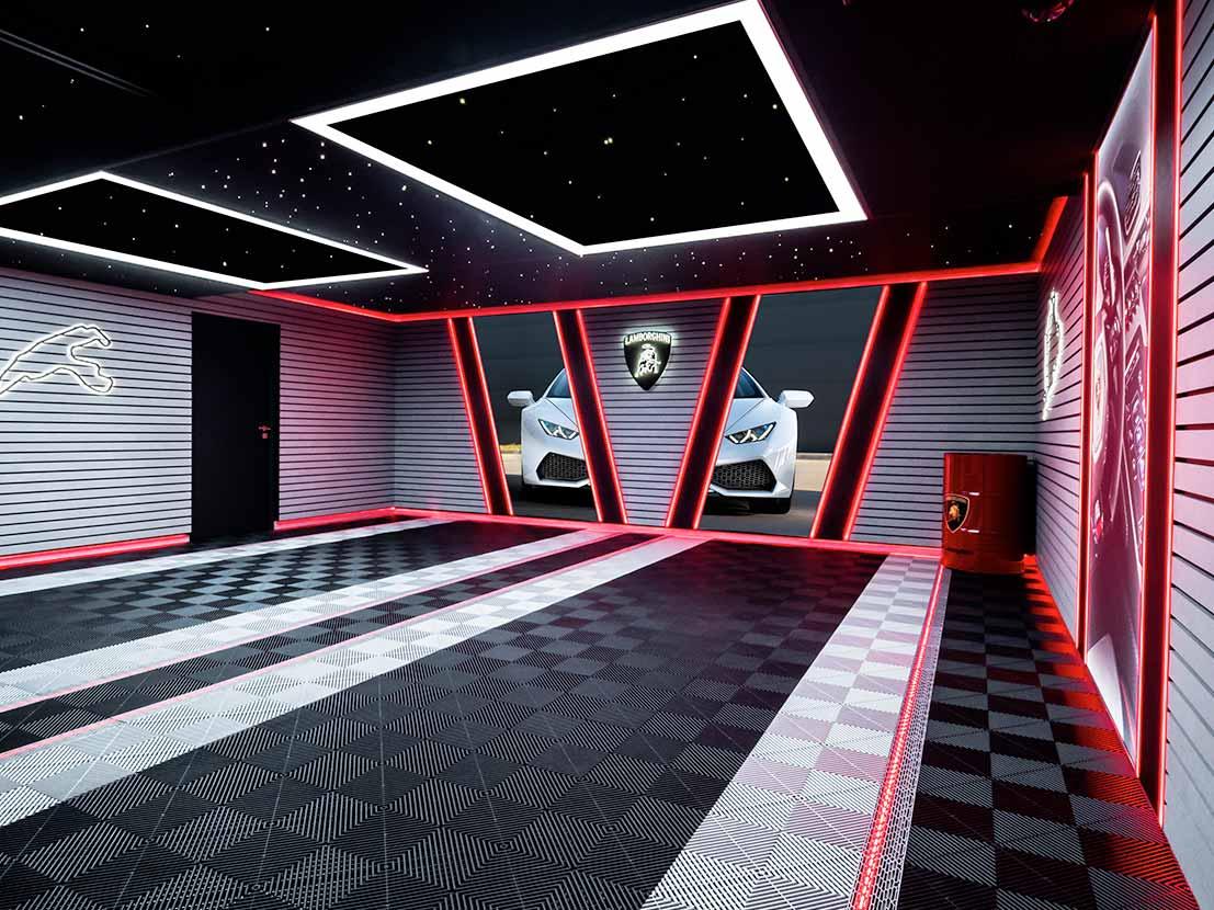 Garage Lamborghini après travaux Carea Design