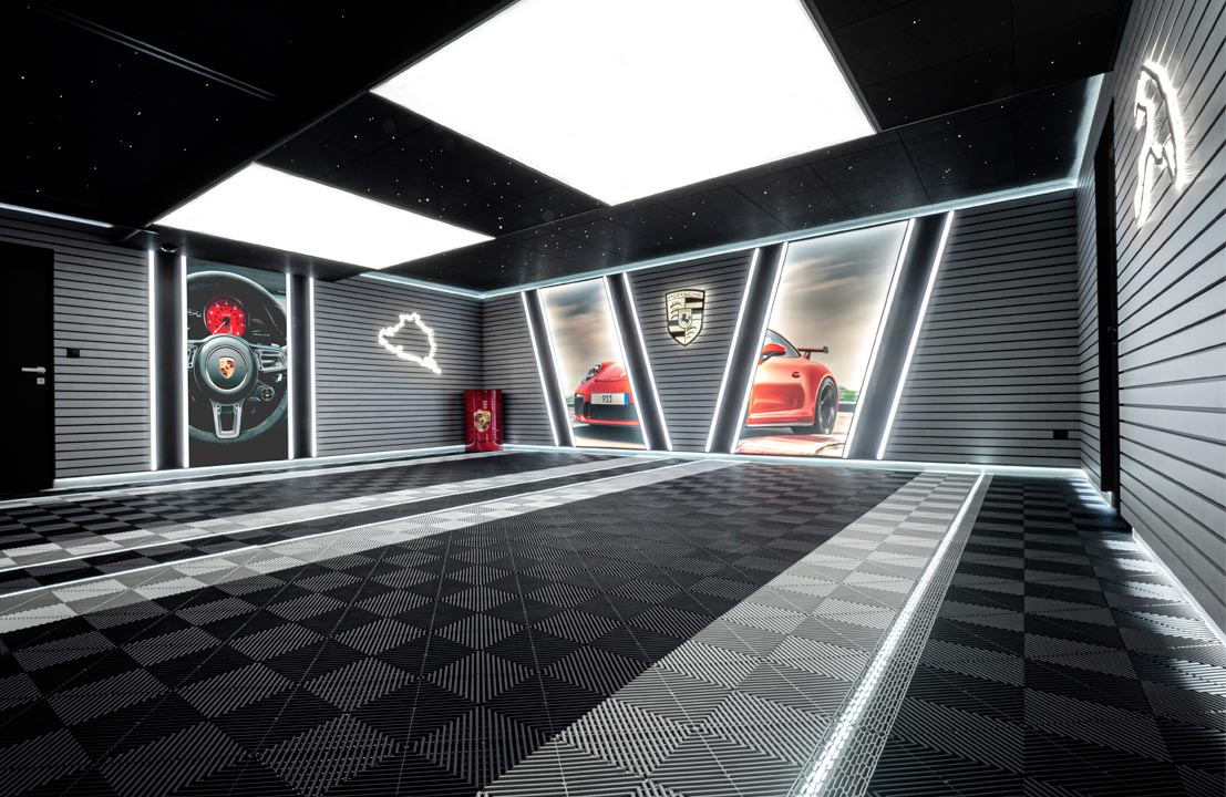 Garage Porsche après travaux Carea Design