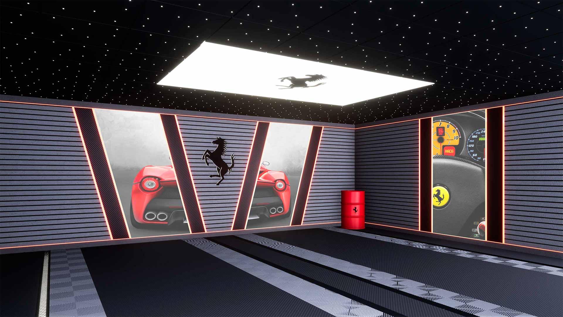 garage sur-mesure Ferrari 3D