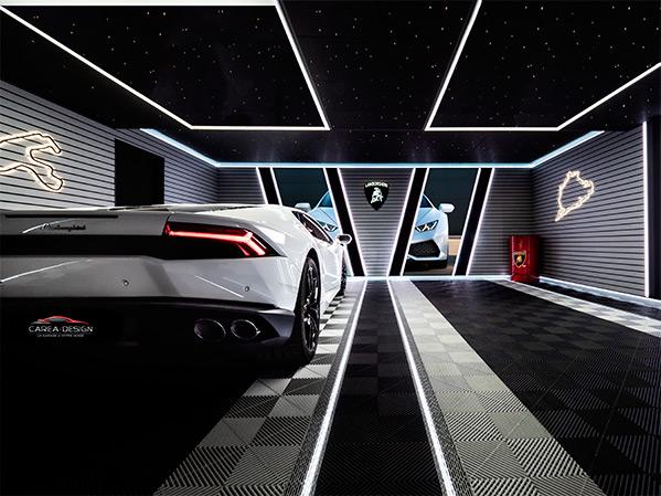 garage sur-mesure lamborghini