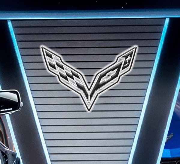 logo lumineux Corvette