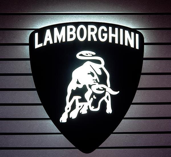 logo lumineux Lamborghini