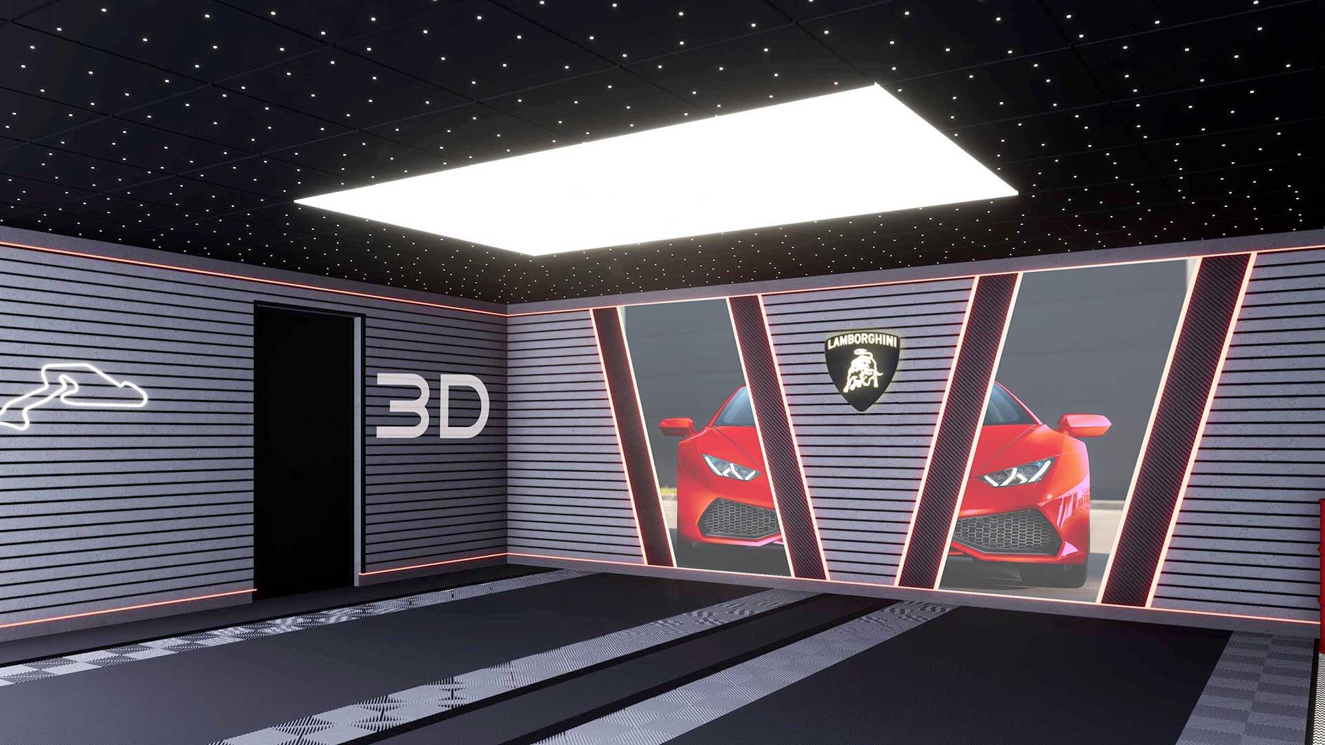 modélisation garage haut de gamme 3D