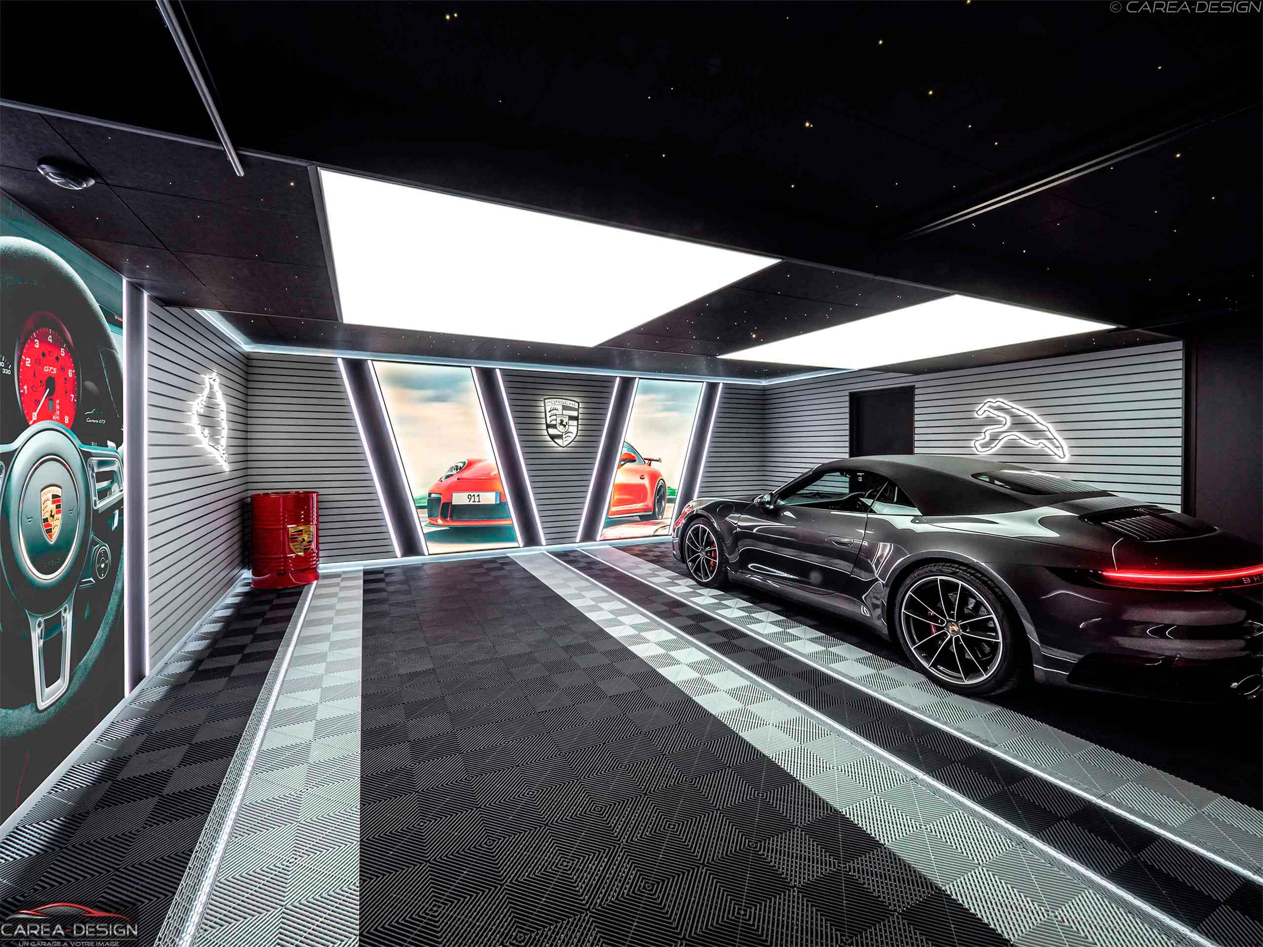 réalisation garage sur-mesure porsche